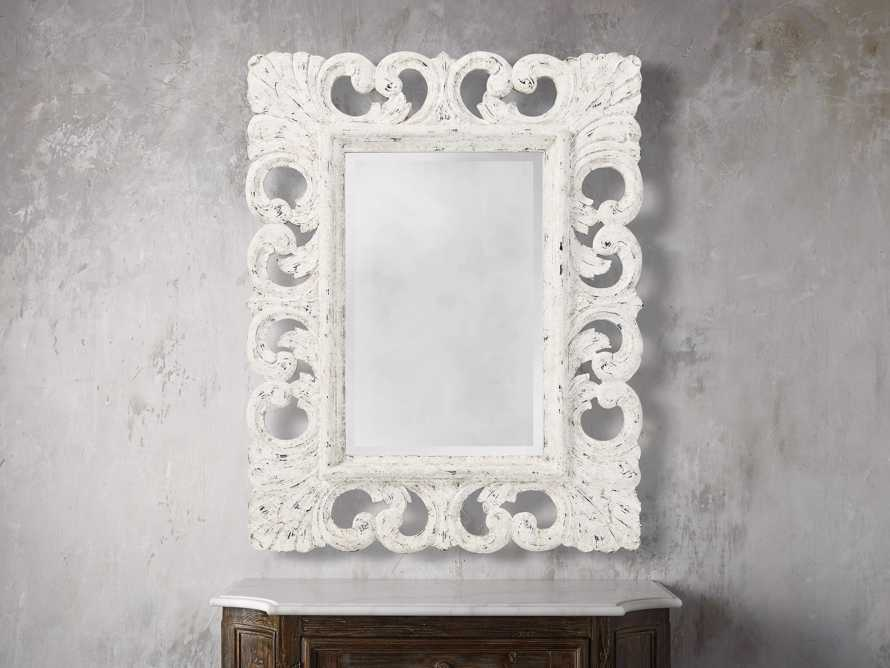 "PORTER 52"" WALL MIRROR IN WHITE, slide 1 of 6"