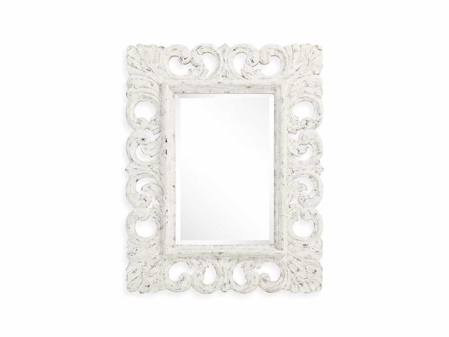 "PORTER 52"" WALL MIRROR IN WHITE, slide 3 of 6"