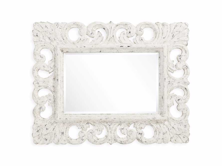 "PORTER 52"" WALL MIRROR IN WHITE, slide 4 of 6"