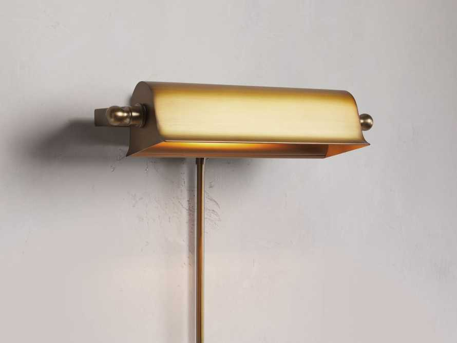 Tremont Brass Library Sconce, slide 1 of 8