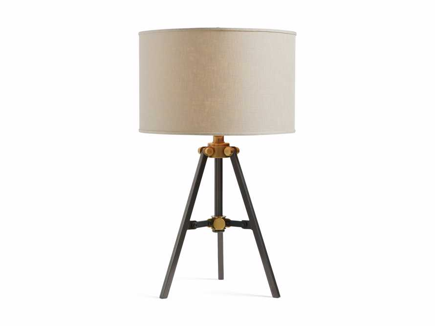 Clarence Table Lamp With Natural Shade in Bronze, slide 3 of 3