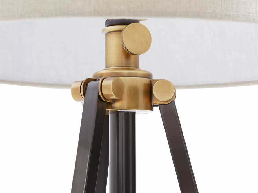Clarence Floor Lamp With Natural Shade in Bronze, slide 2 of 8