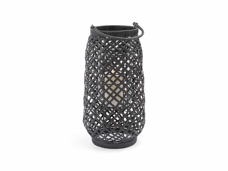 Boho Weave Outdoor Lantern in Dry Bark