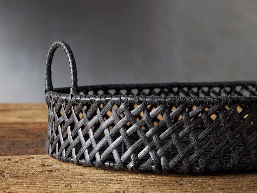 Boho Weave Outdoor Tray in Dry Bark