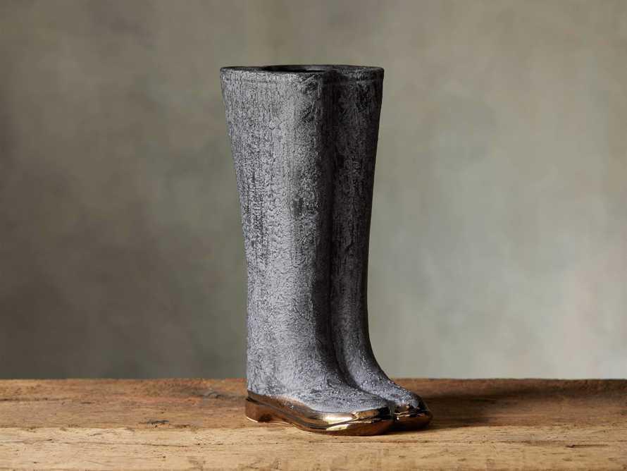 Grey Welly Vase