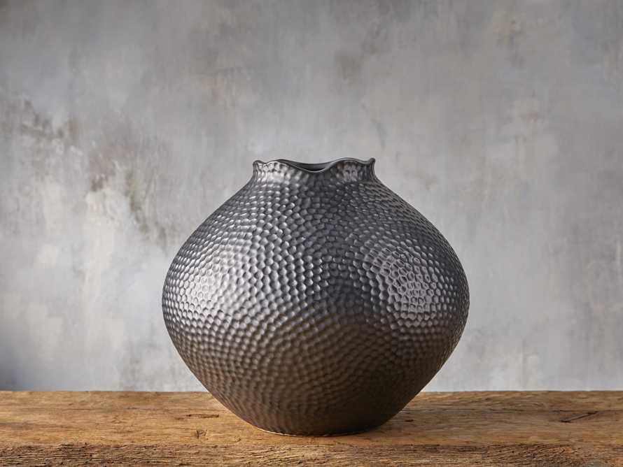 Eva Round Vase in Black, slide 1 of 5