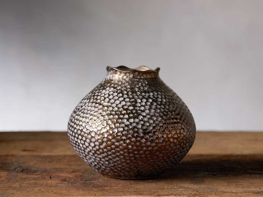 Eva Round Vase in Gold, slide 1 of 5