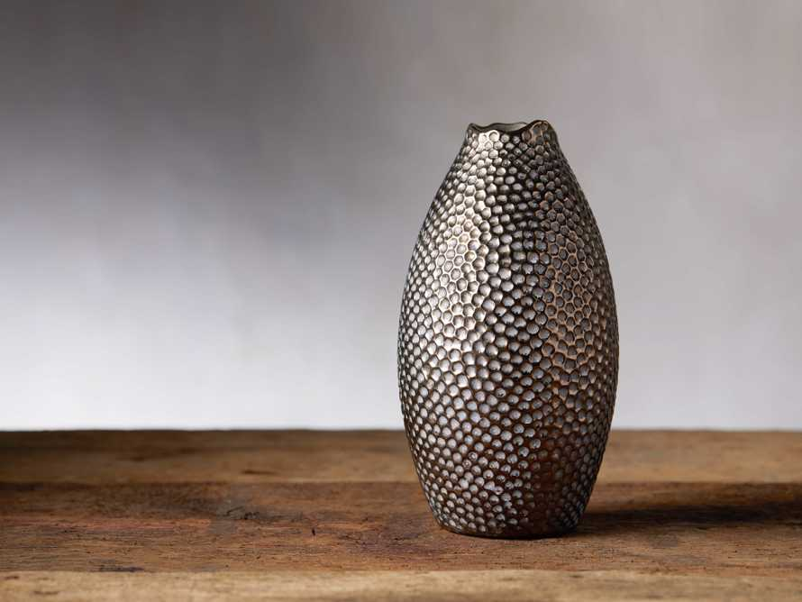 Small Eva Tall Vase in Gold, slide 1 of 4