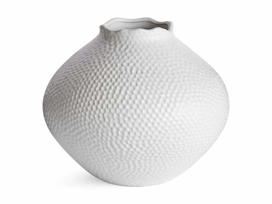Large Eva Round Vase in White, slide 6 of 6