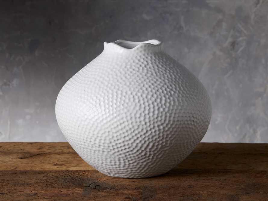 Large Eva Round Vase in White, slide 1 of 6