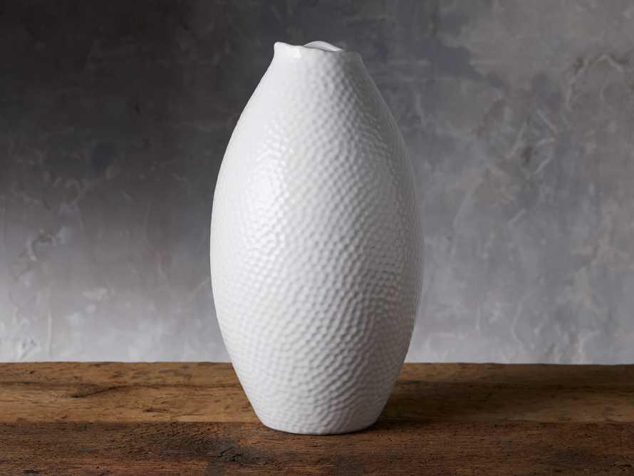 Eva Tall Vase in White, slide 1 of 6