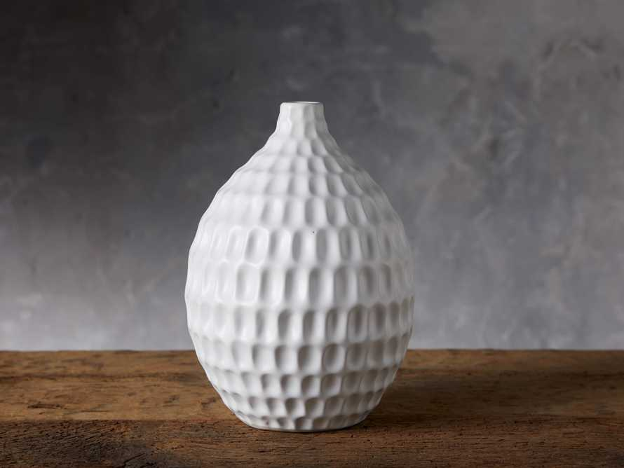 Eva Bud Vase in White