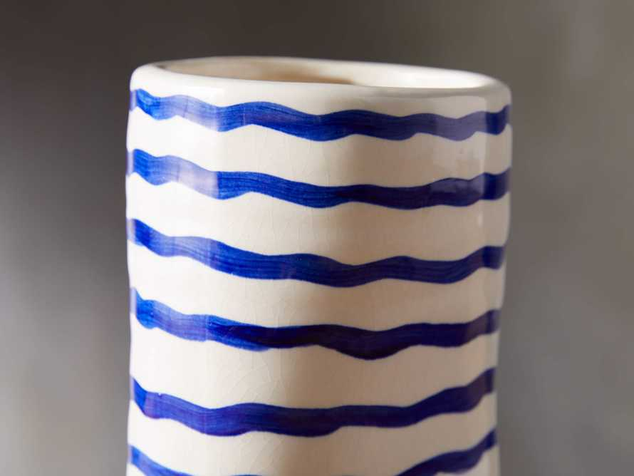 Blue and White Stripe Vase, slide 2 of 5