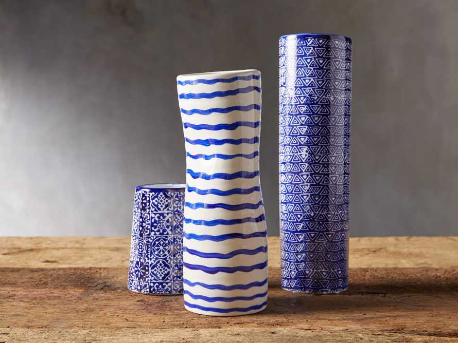 Blue and White Stripe Vase, slide 3 of 5