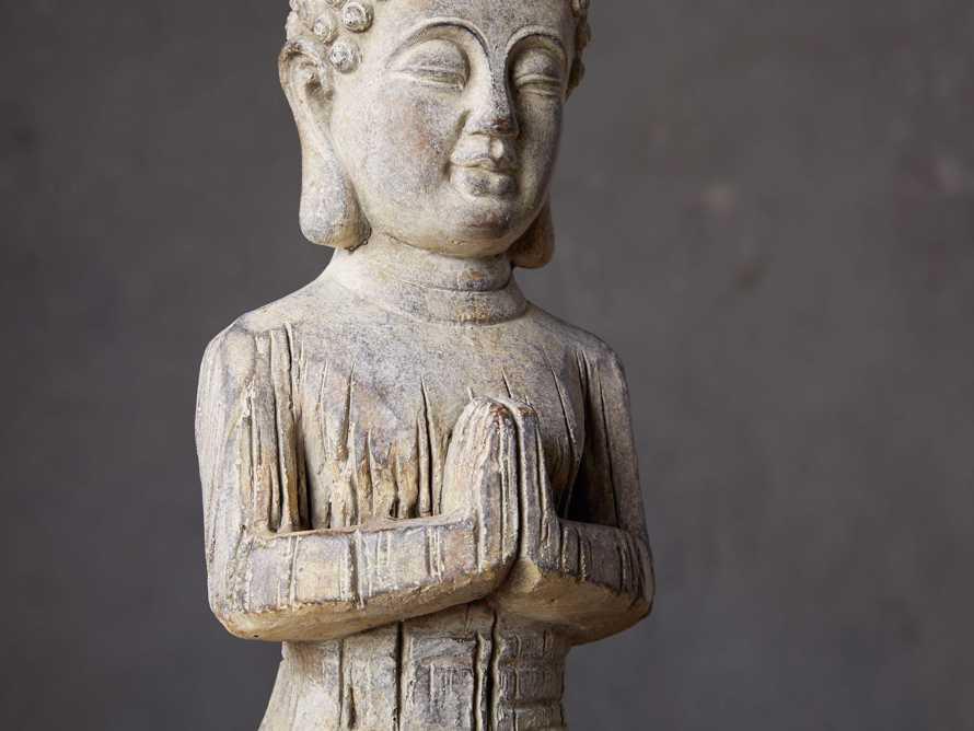 Kneeling Cement Buddha