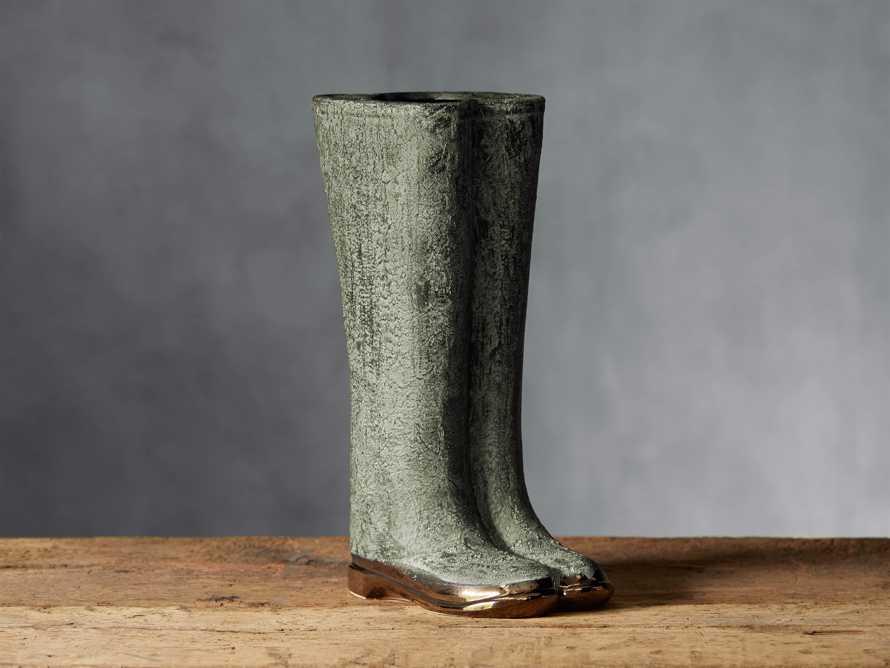 "Garden 19"" Welly Vase in Patina Green"