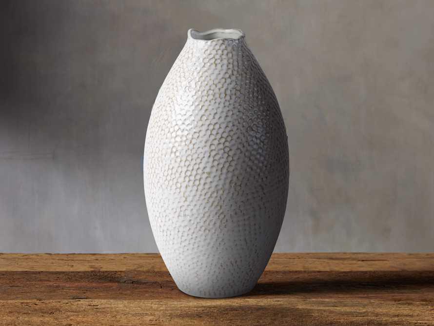 Eva Tall Vase in Cream, slide 1 of 4