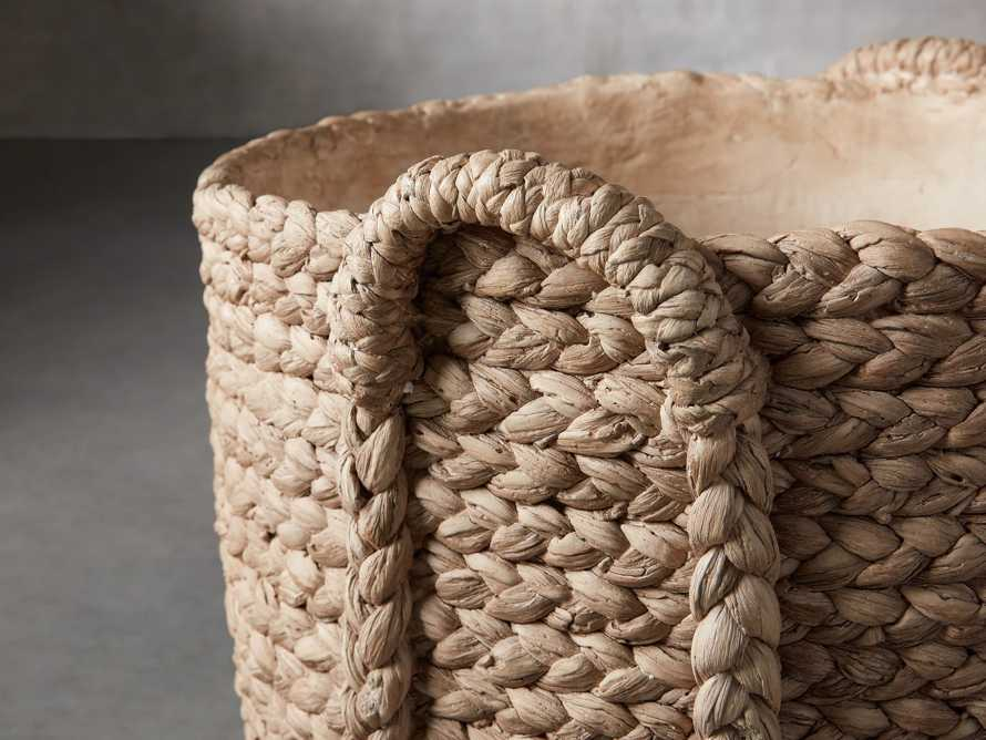 Large Woven Long Handle Planter, slide 2 of 6