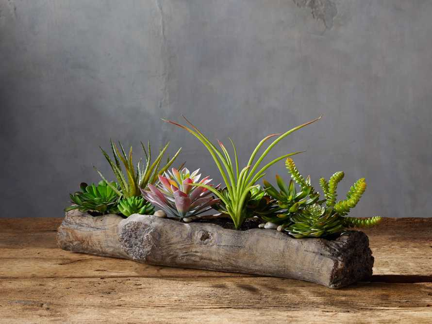 Driftwood Centerpiece with Faux Botanicals, slide 1 of 2