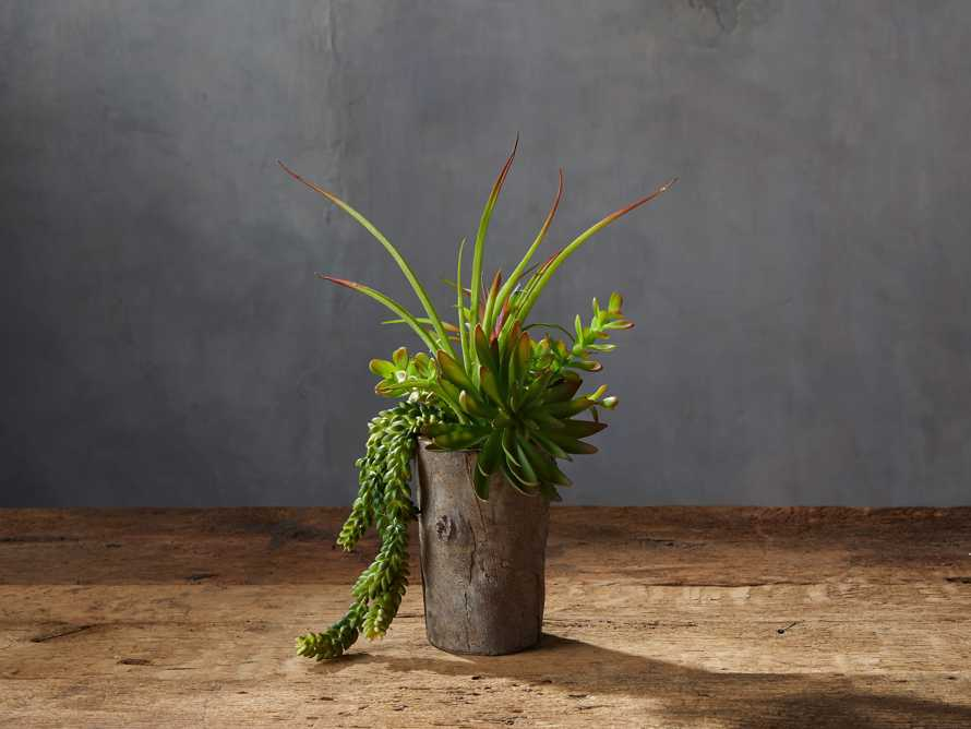 Driftwood Vase with Faux Botanicals, slide 1 of 2