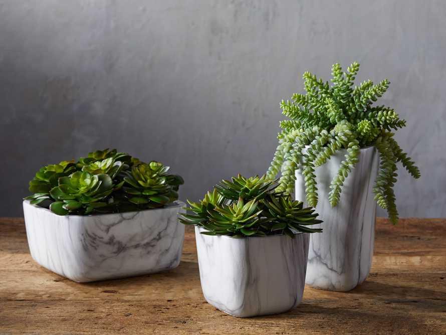 Marble Vase with Faux Botanicals, slide 2 of 2