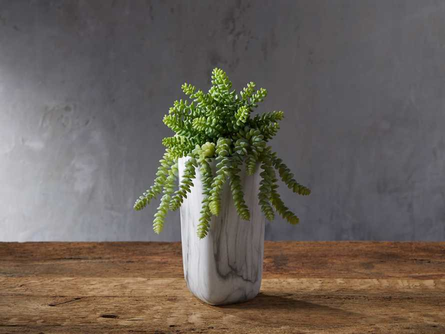 Marble Vase with Faux Botanicals, slide 1 of 2