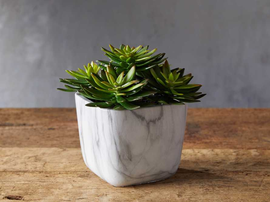 Marble Oval Vase with Faux Botanicals, slide 1 of 2