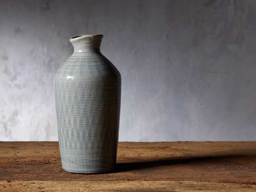 """Soft Blue 13"""" Crosshatch Vase, slide 2 of 5"""