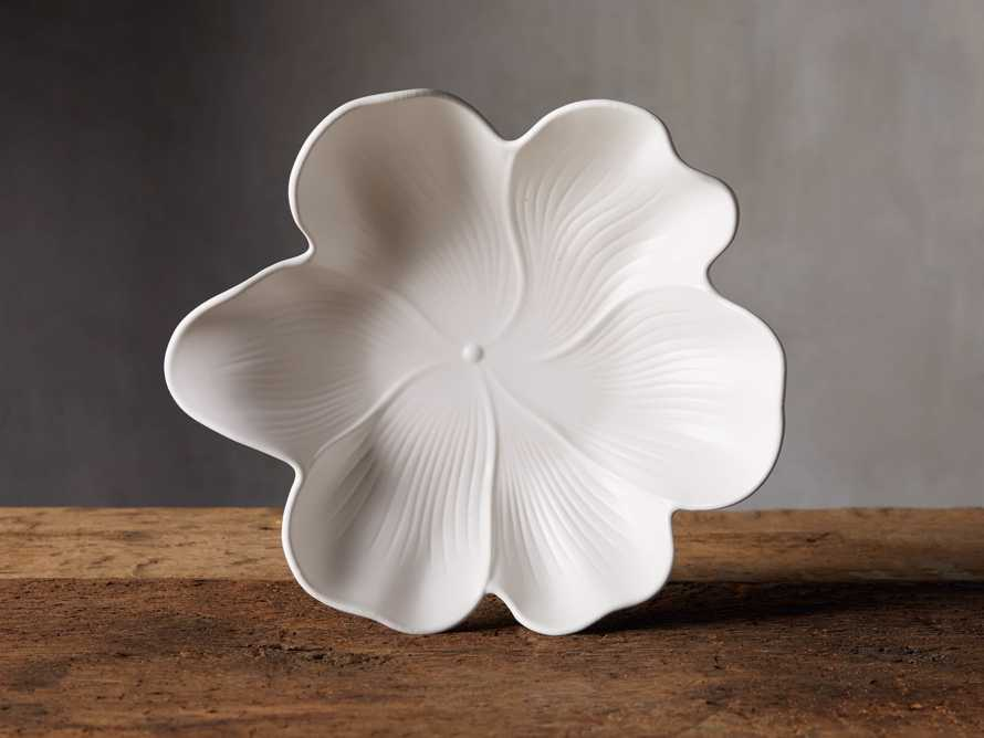 Large Magnolia Plate in White, slide 1 of 5