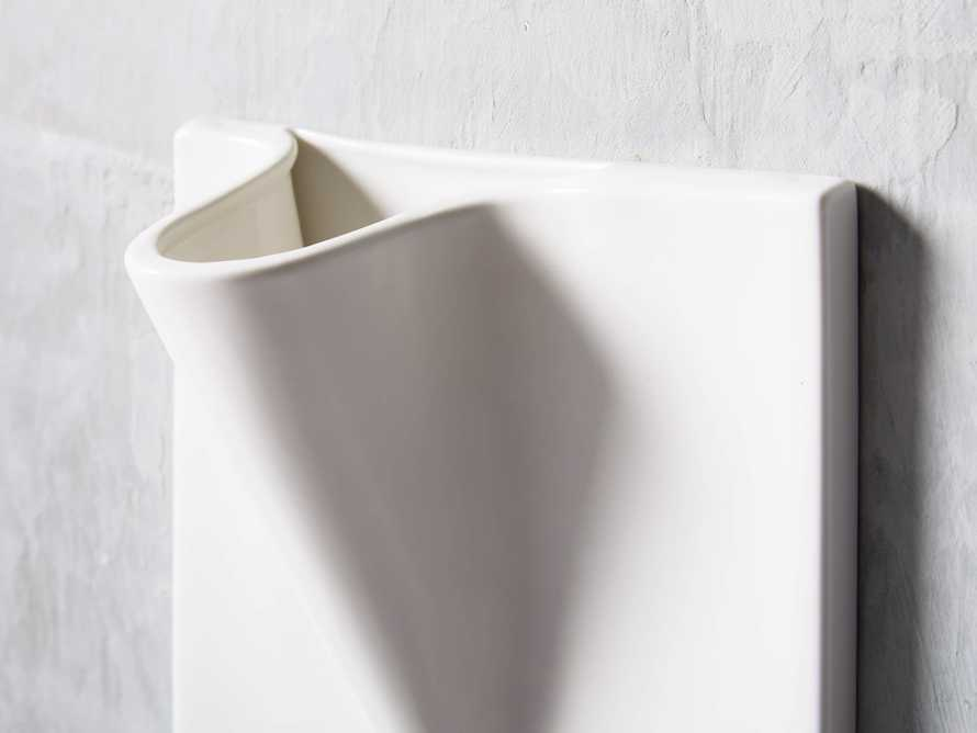 Small Matte Wall Pocket Vase, slide 2 of 3