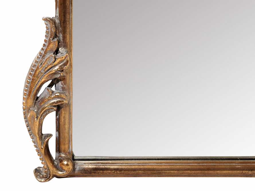 "Amelie 41"" Wooden Arched Floor Mirror in Golden Hue, slide 5 of 9"