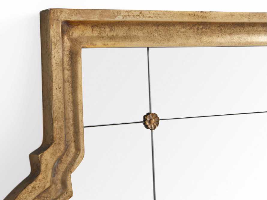 "AISLING 36"" X 69"" QUATREFOIL MIRROR IN ANTIQUE GOLD, slide 3 of 5"