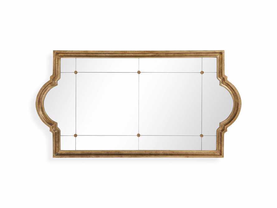 "AISLING 36"" X 69"" QUATREFOIL MIRROR IN ANTIQUE GOLD, slide 4 of 5"