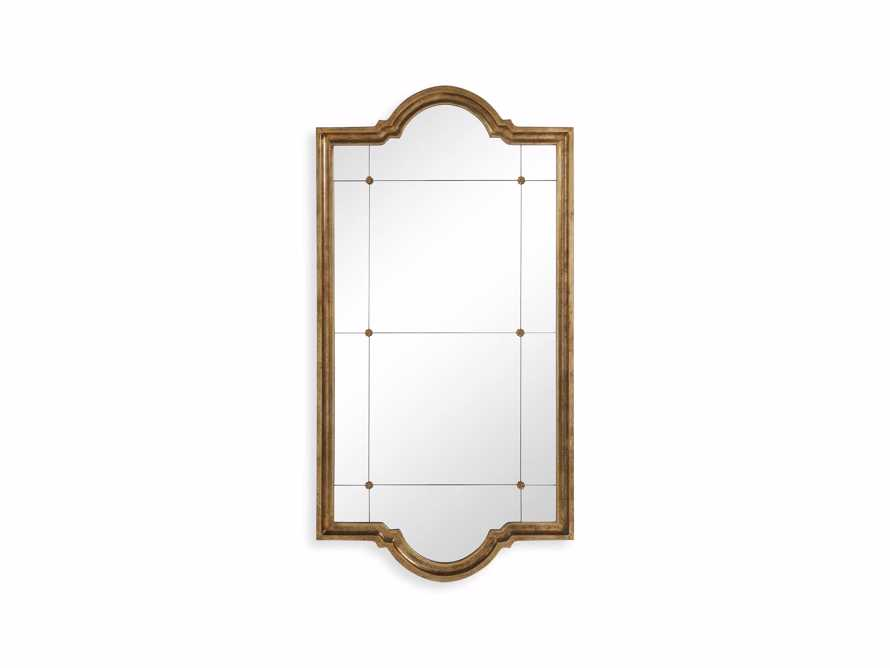 "AISLING 36"" X 69"" QUATREFOIL MIRROR IN ANTIQUE GOLD, slide 5 of 5"