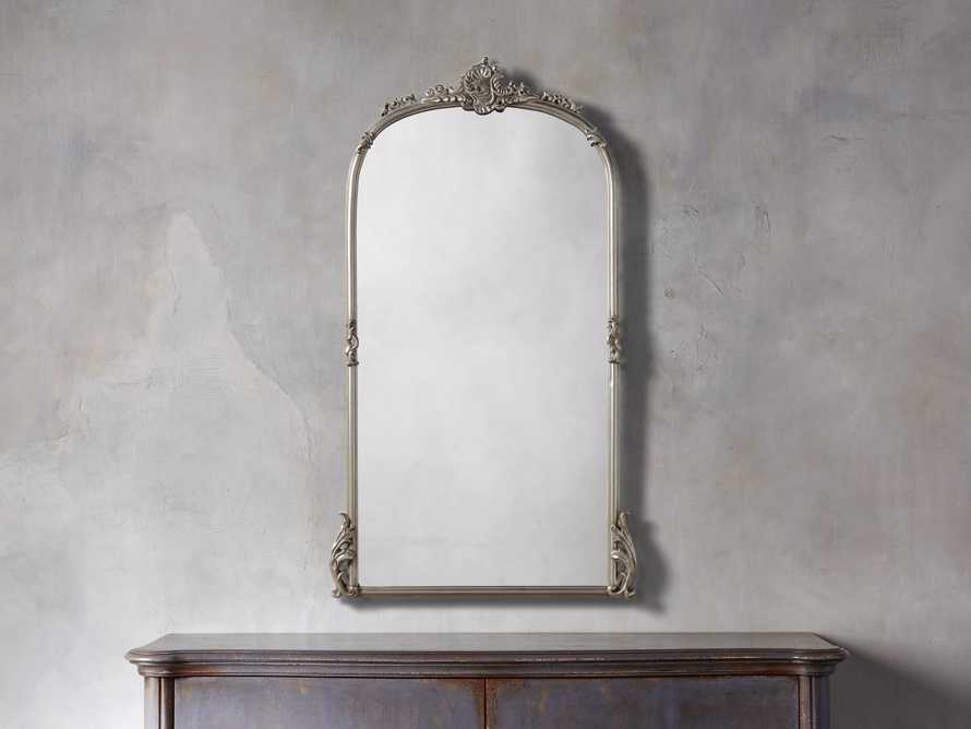 "Amelie 28"" Wall Mirror in Silver, slide 1 of 8"