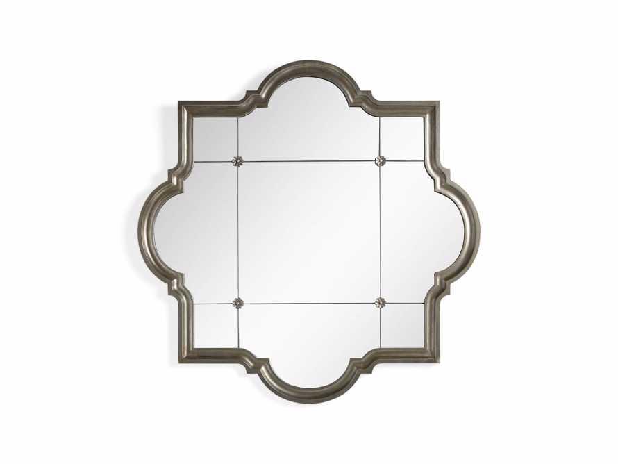 "Aisling 55"" X 55"" Quatrefoil Mirror in Silver"