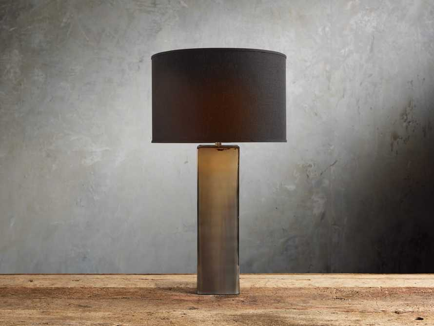 Adrano Table Lamp in Gold With Black Shade, slide 1 of 2