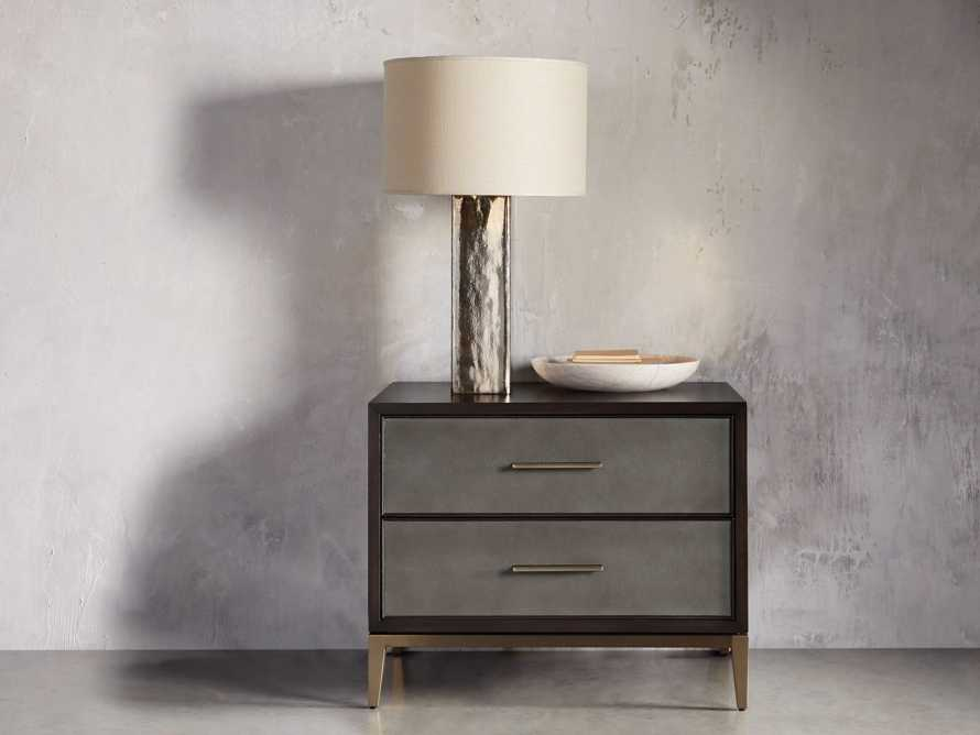Adrano Table Lamp in Gold With Natural Shade, slide 3 of 6