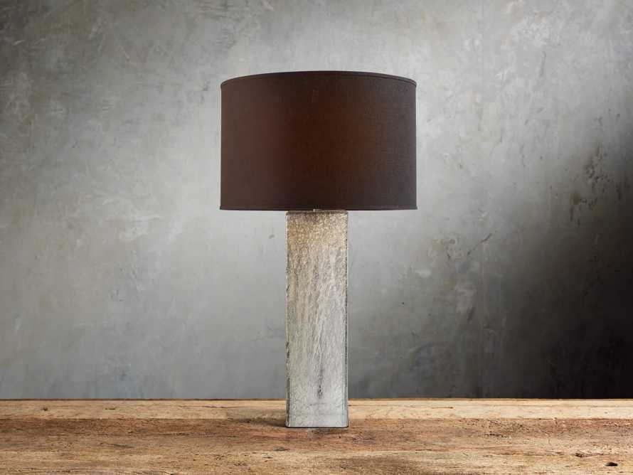 Adrano Table Lamp in Silver With Black Shade, slide 1 of 2