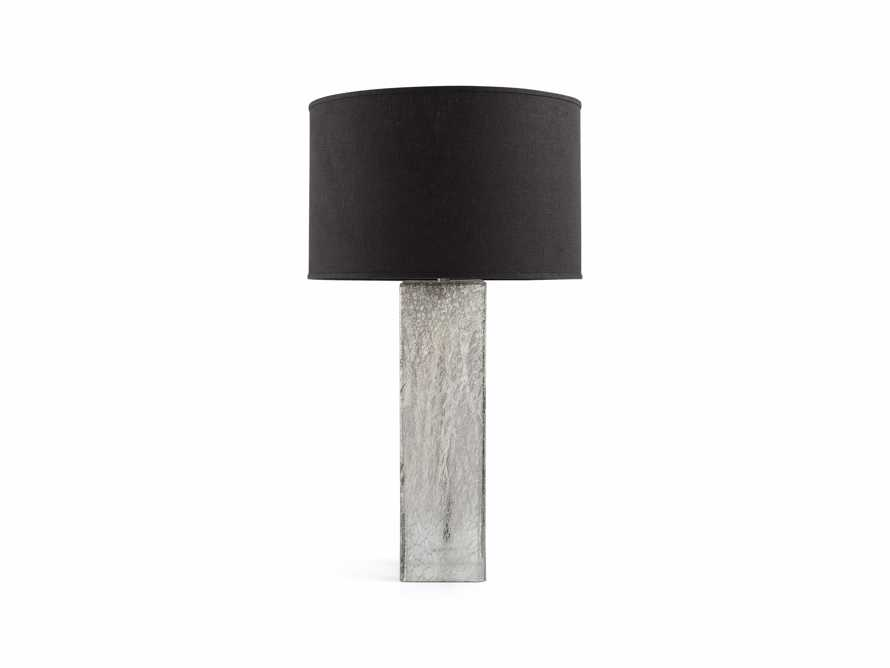 Adrano Table Lamp in Silver With Black Shade, slide 2 of 2