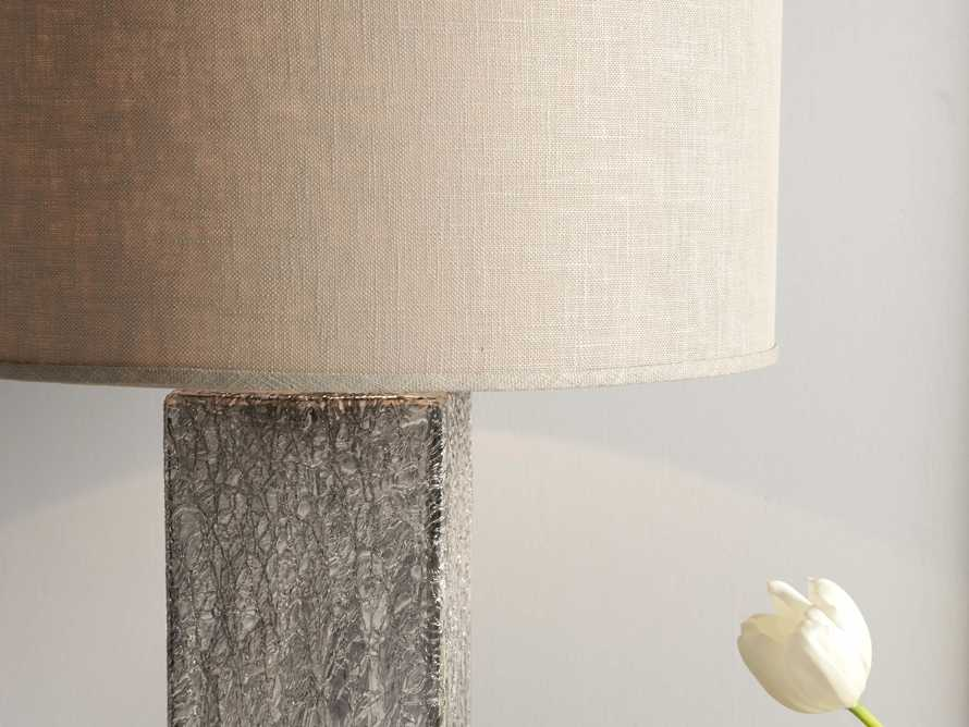 Adrano Table Lamp in Silver With Natural Shade, slide 3 of 4