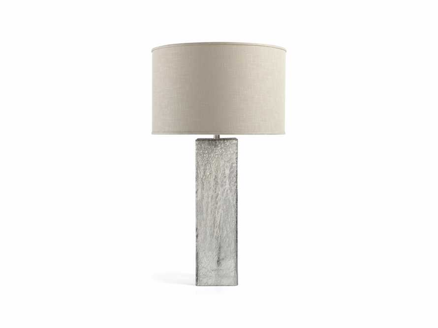 Adrano Table Lamp in Silver With Natural Shade, slide 4 of 4