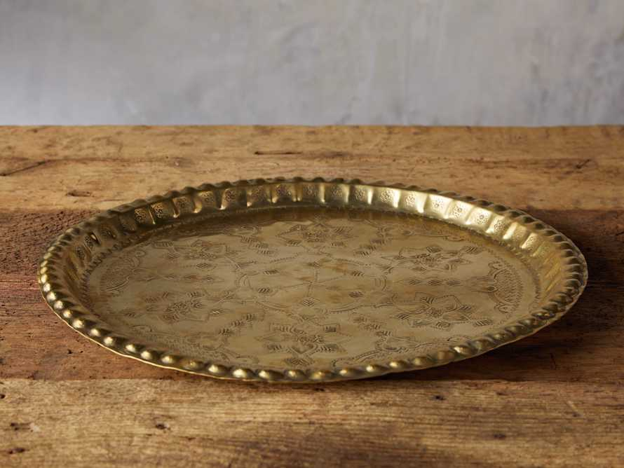 Moroccan Vintage Tray in Brass