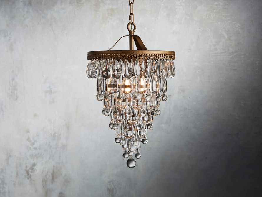 Anabella Chandelier in Antique Gold, slide 1 of 2