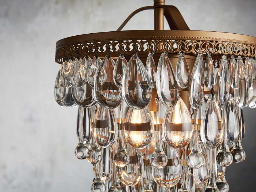 Anabella Chandelier in Antique Gold, slide 2 of 2