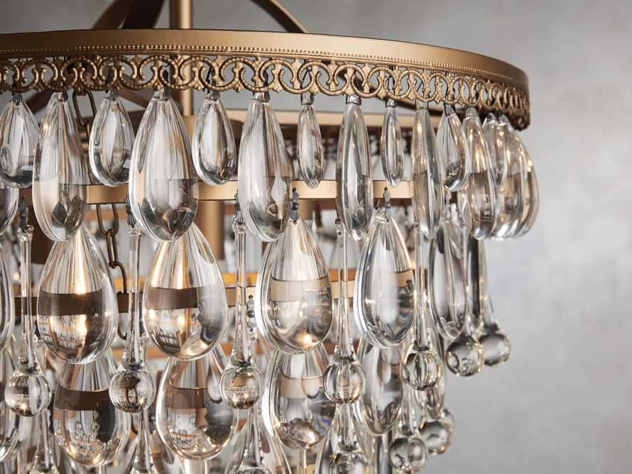 Anabella Large Chandelier in Antique Gold