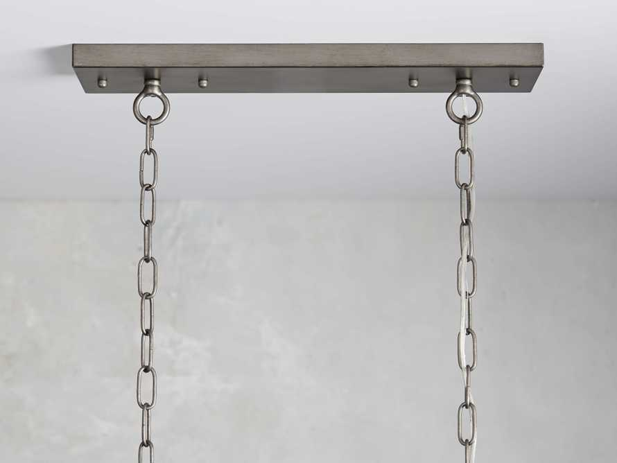 Anabella Rectangle Chandelier in Nickel