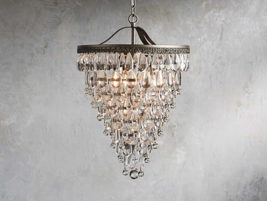 Anabella Large Chandelier in Nickel, slide 1 of 2
