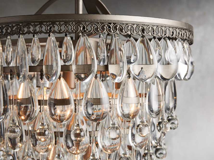 Anabella Large Chandelier in Nickel, slide 2 of 2