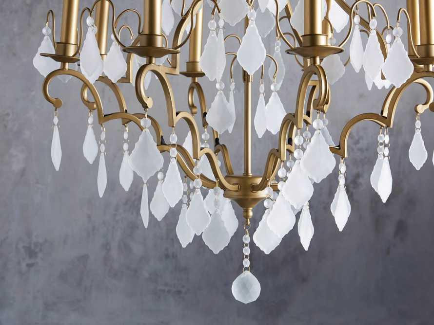 """Versailles 28"""" Chandelier in Antique Brass"""
